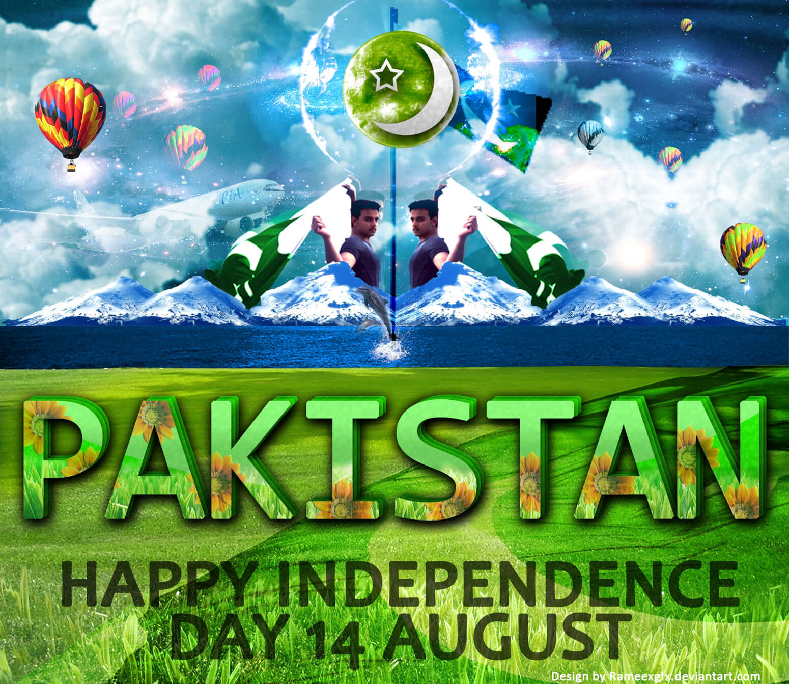 14 August Independence Day-PAK by rameexgfx Rameez SOOMRO