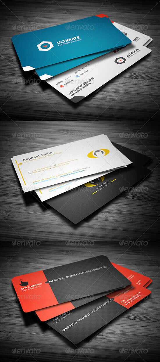 3 in 1 Business Card Bundle by calwincalwin