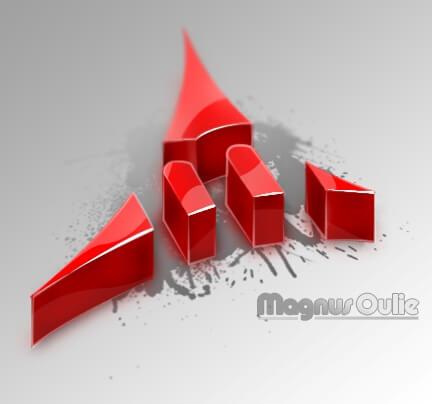 3D M Logo by magnusoulie