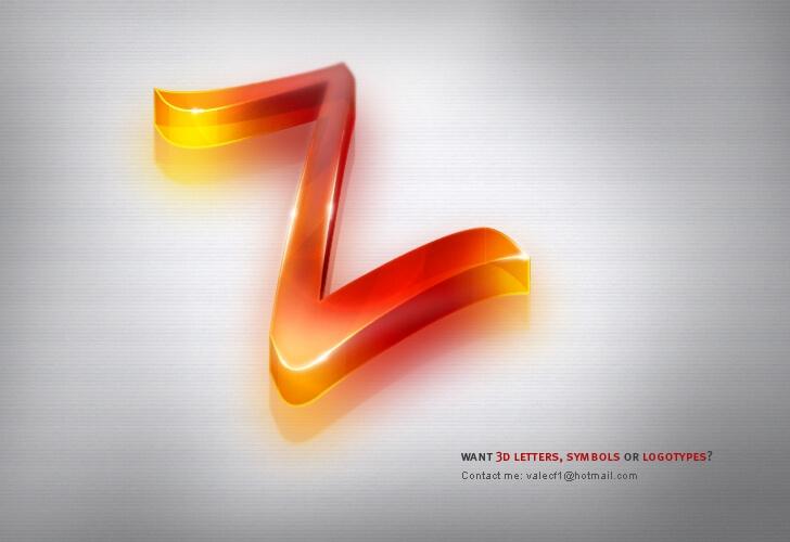 3D letters symbols or logos by ivelt