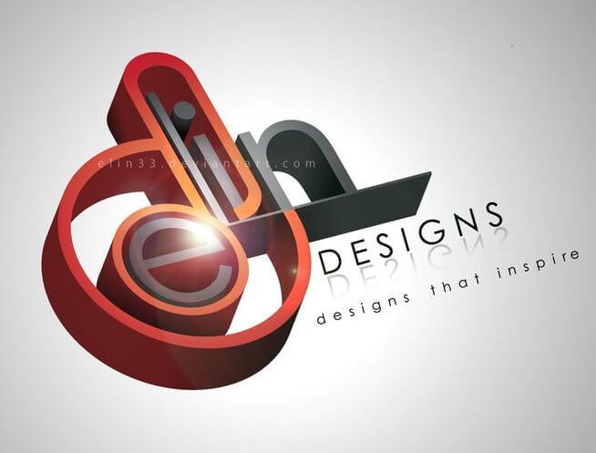 3D logo by elin33