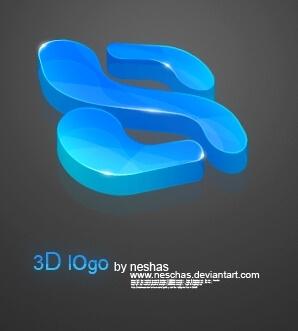 3D logo by neschas