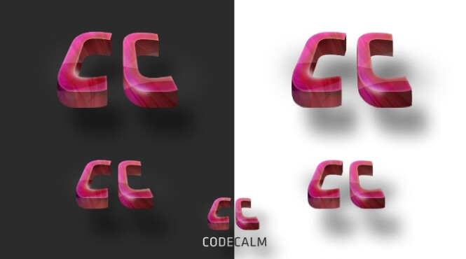 3D logo for Codecalm by lumberpack