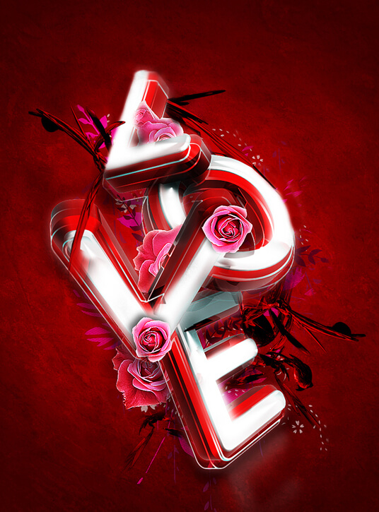 3d valentine s day typography exclusive tutorial