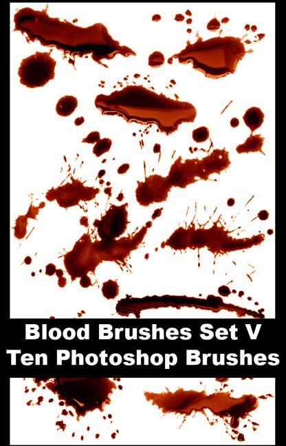 523 - Blood Brushes Set V by Blood--Stock