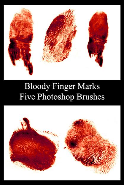 526 - Finger Mark Brushes I by Blood--Stock
