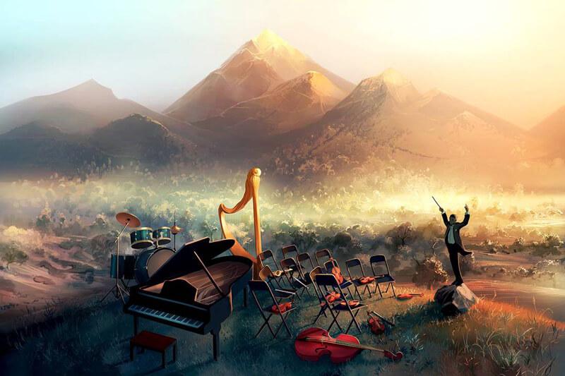 A symphony alone by AquaSixio