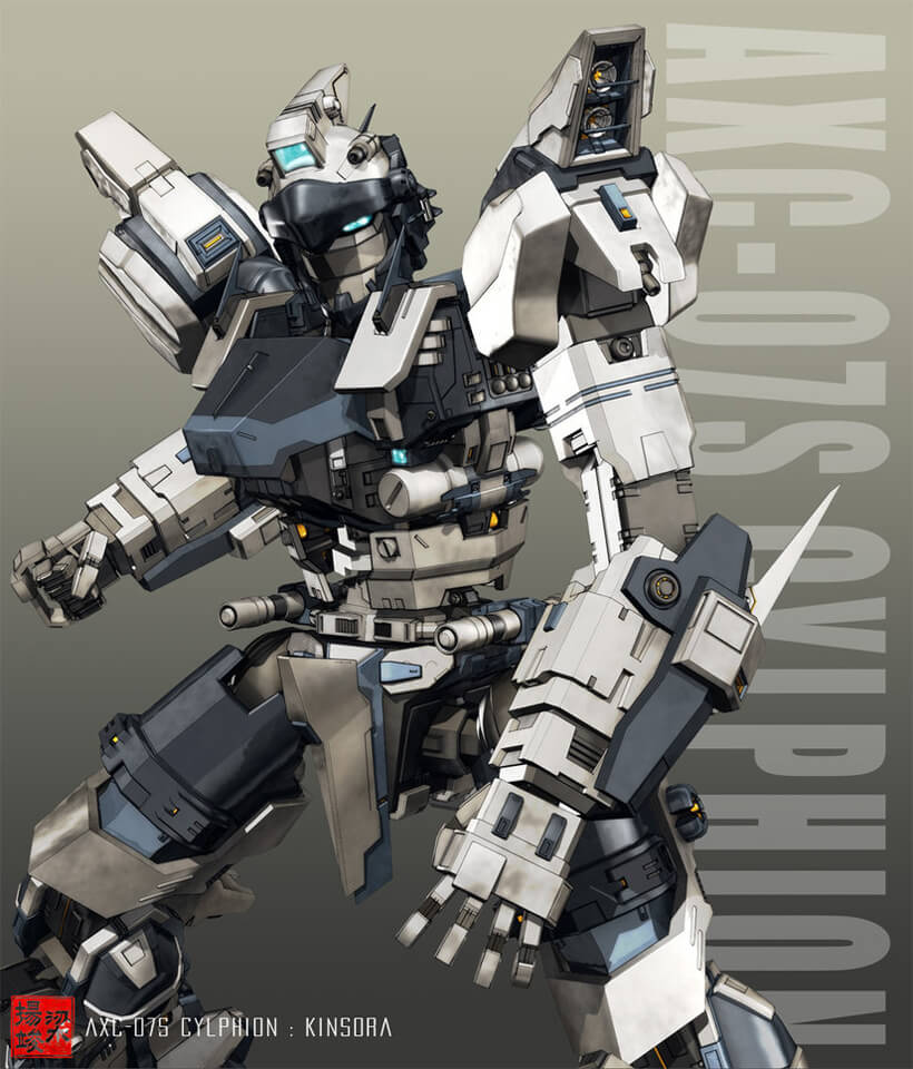 AXC-07S Cylphion +pose+ by ~shiningcin