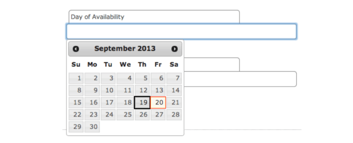 Accessible jQuery UI DatePicker