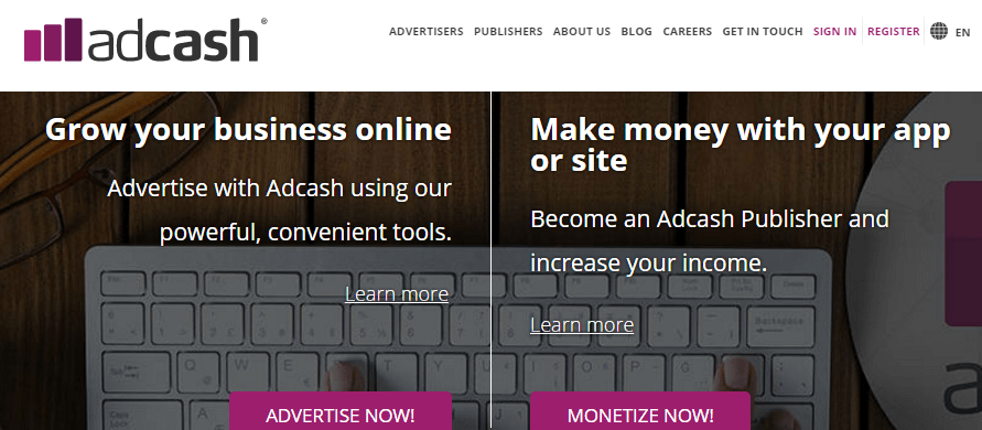 Adcash International Advertising Network