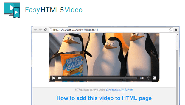 Adding the HTML5 video player