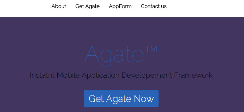 Agate Mobile Application Framework