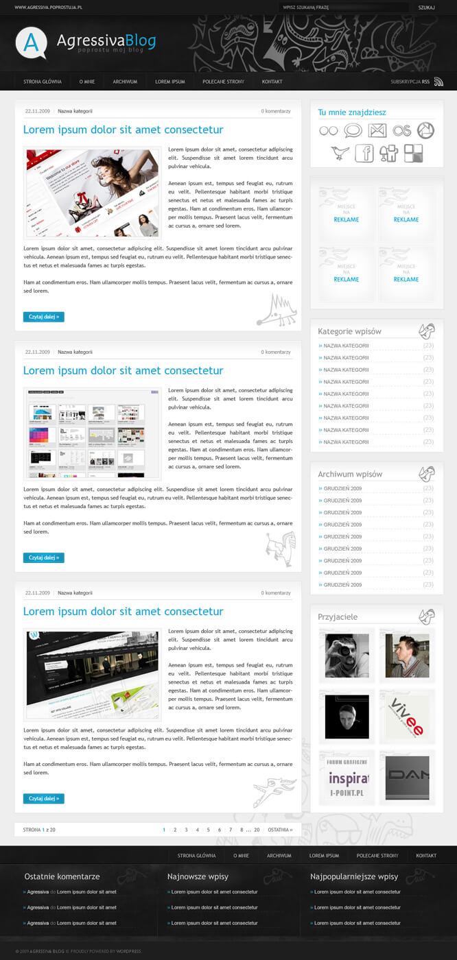 Agressiva Blog - My Blog by waterdesign