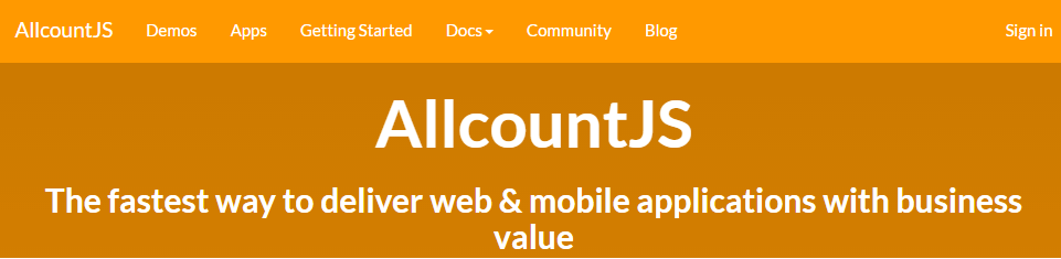 AllcountJS - Rapid application development