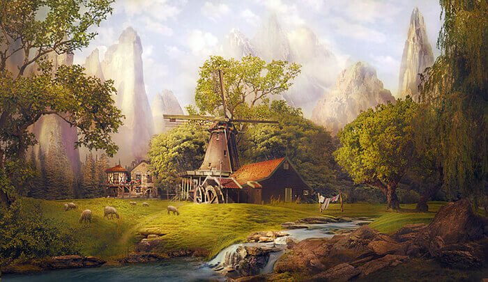 Alpine village by Lotta-Lotos