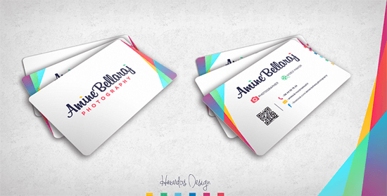 Amine Bellaraj Photography Business Card by HAZARDOS