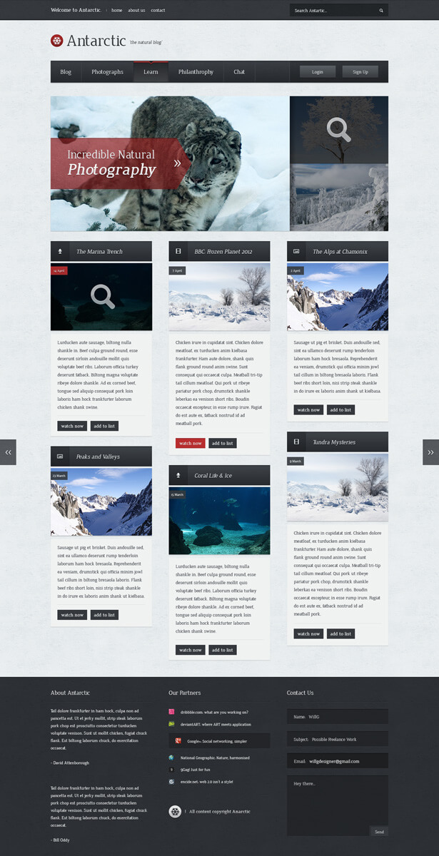 Antarctic Blog Theme by iiipod