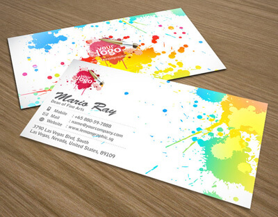 Art attack business card by Lemongraphic