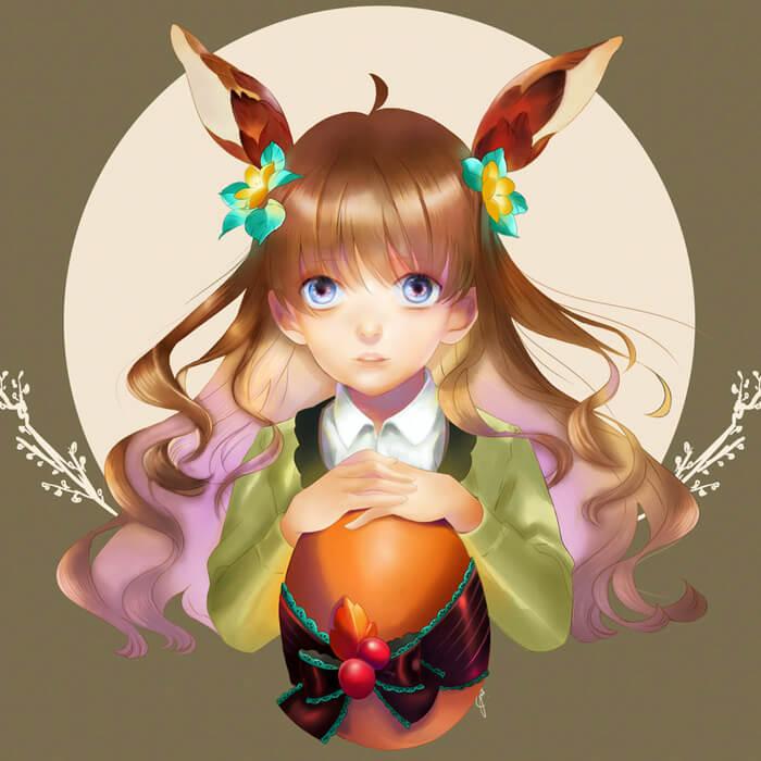 Autumn Girl by ArtFurry