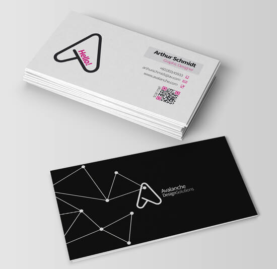 Avalanche Business Card (Mock Up 2) by Stracci7