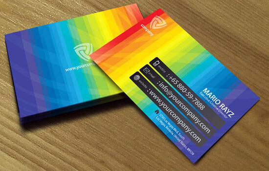 Band of color business card 04 by Lemongraphic