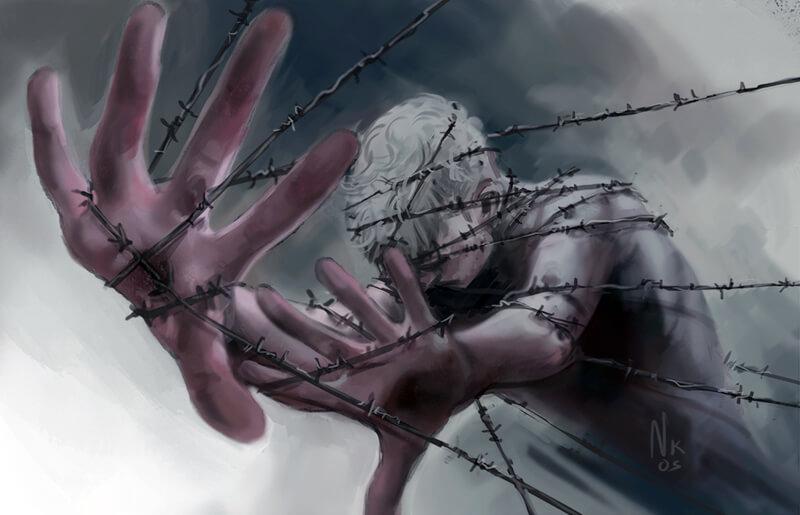 Barbed Wire [Goretober 01] by OrangeSavannah