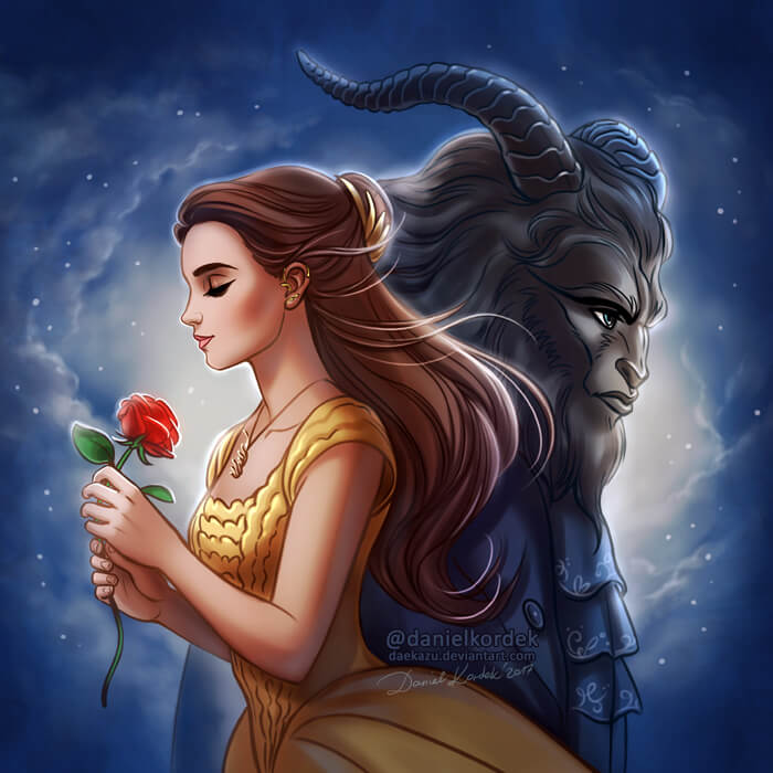 Beauty and the Beast 2017 by daekazu