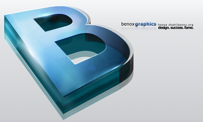 Benox 3D Logo by benox-graphics