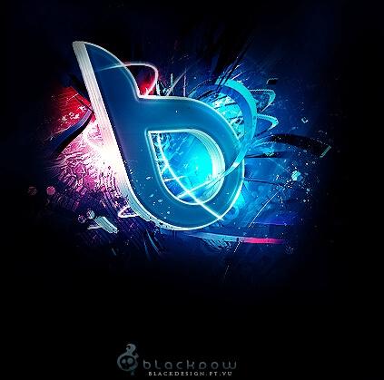 Black Design - 3D Logo by Blackdow