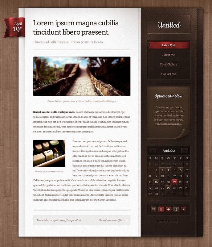 Untitled Web Blog theme design by nodethirtythree