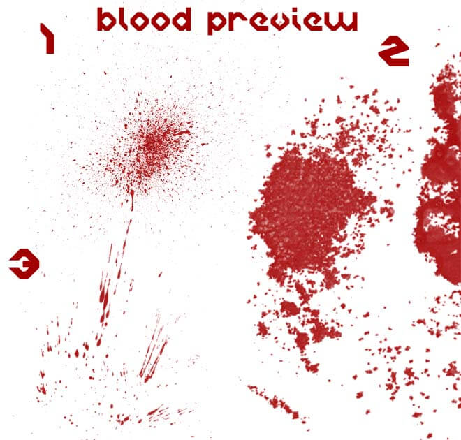 Blood Brush Set One by eaglesnc