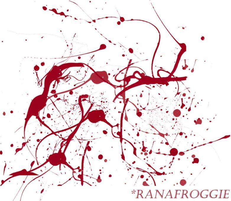 Blood Spatter Brush Pack by Ranafroggie