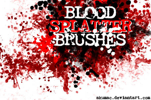 Blood Splatter Brushes CS by Akumac