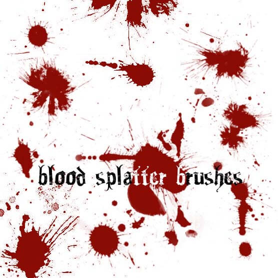 Blood Splatter Brushes by circle--of--fire