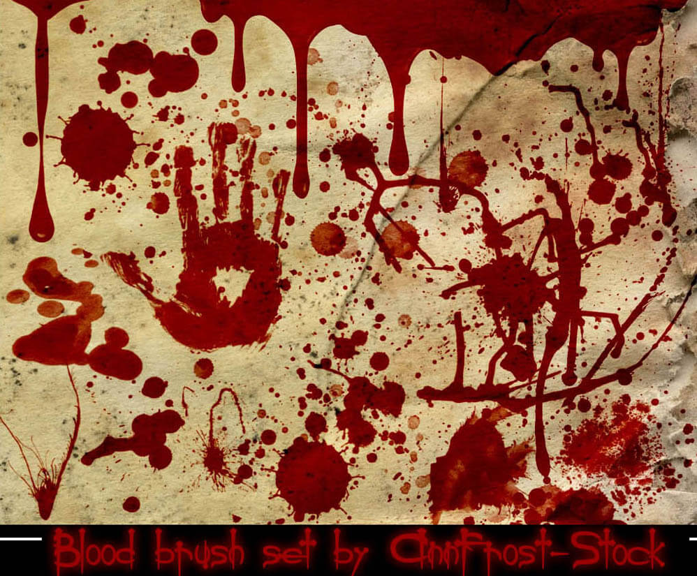 Blood brush set by AnnFrost-stock