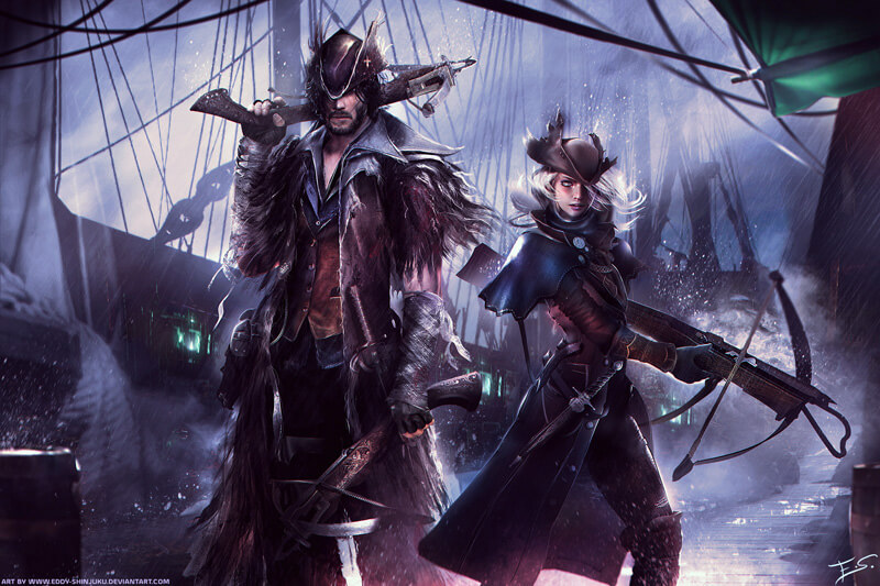 Bloodborne themed Dungeons and Dragons Commission by Eddy-Shinjuku