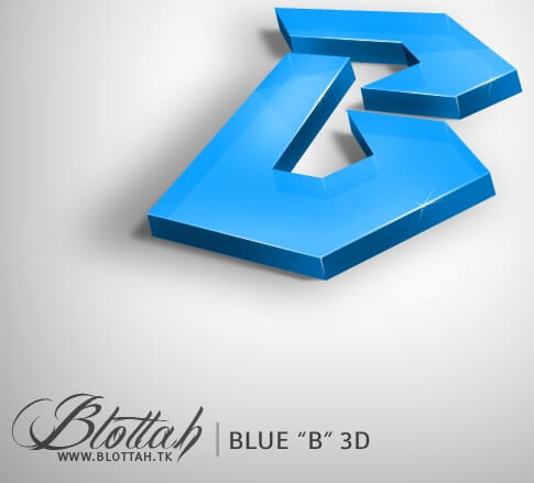 Blue B 3D by blottah