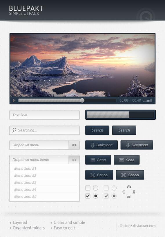 Bluepackt - Free web elements by ~ekanz