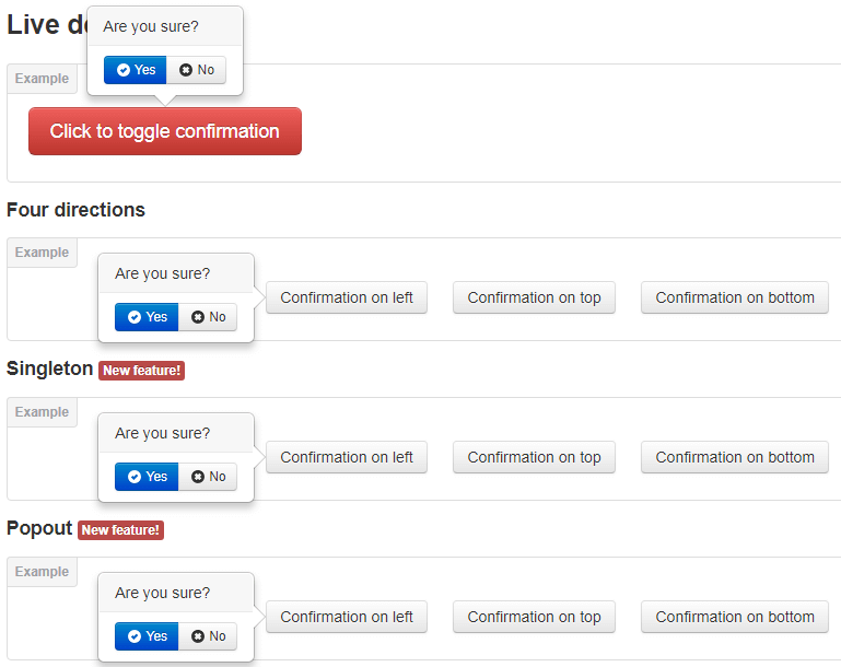Bootstrap Confirmation