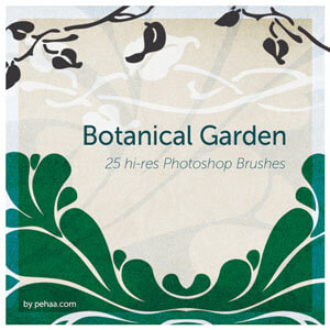 Botanical Garden Free Photoshop Brushes by  PeHaa