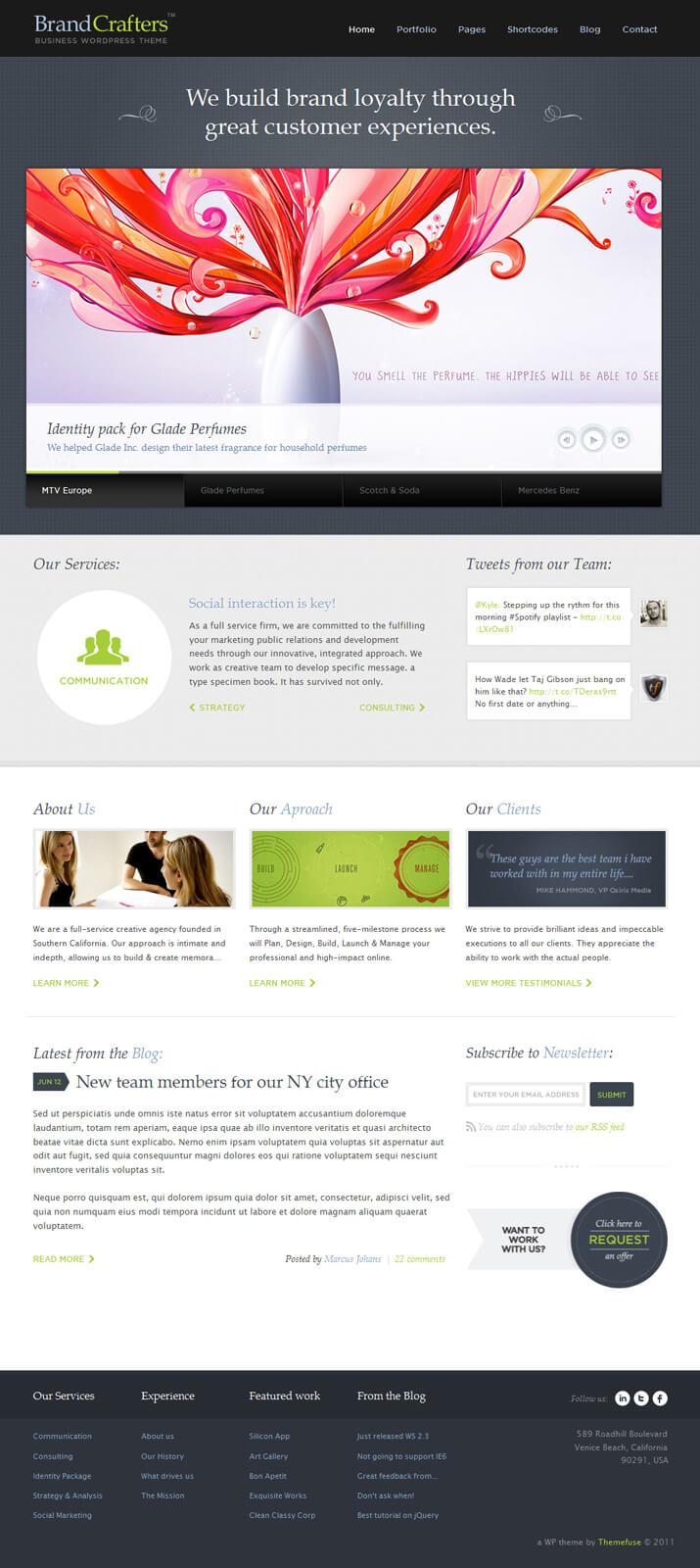 Brand Crafters WordPress Theme by ThemeFuse