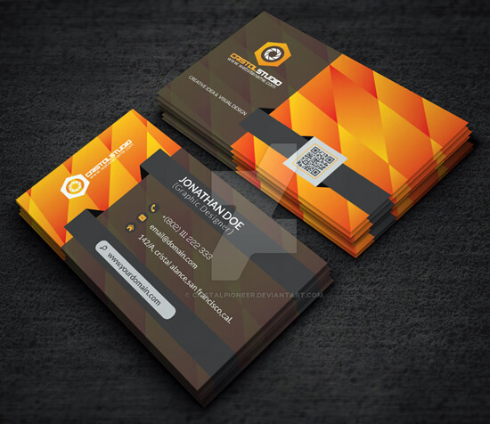 Business Card Template On Graphicriver by Cristalpioneer