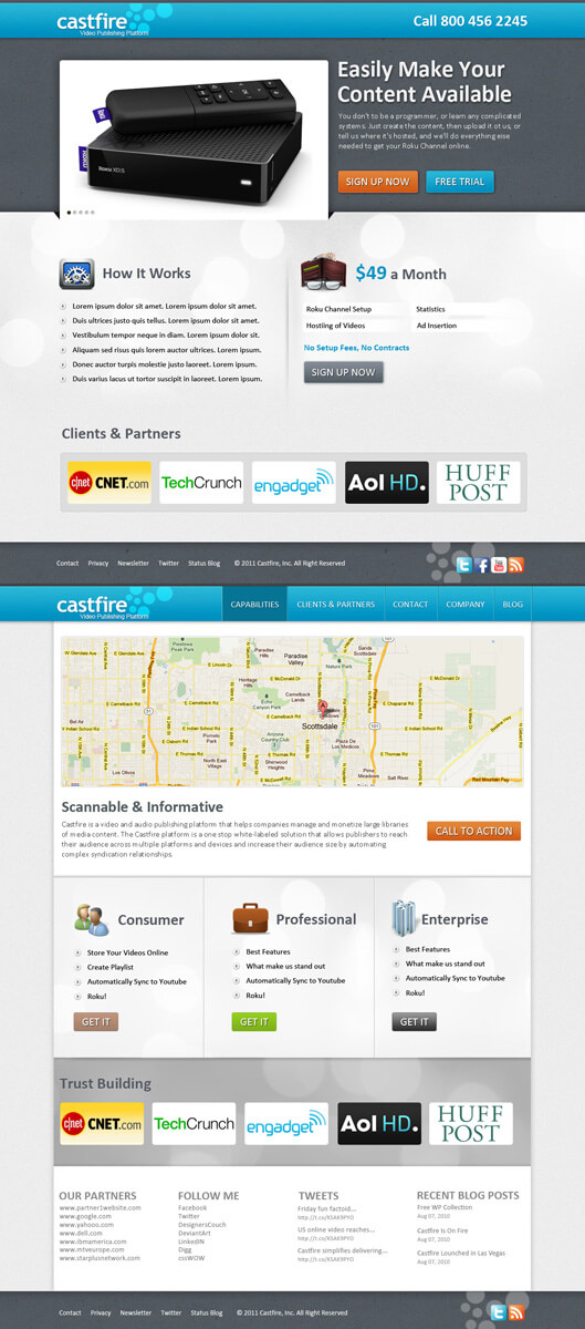 CastFire Web2.0 Design by think360studio
