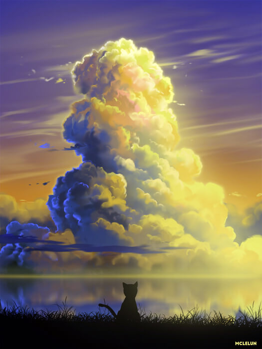 Cat Cloud by mclelun