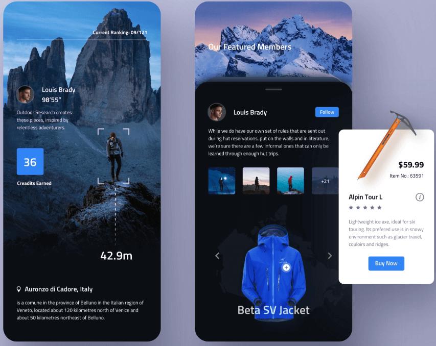 Climber club app