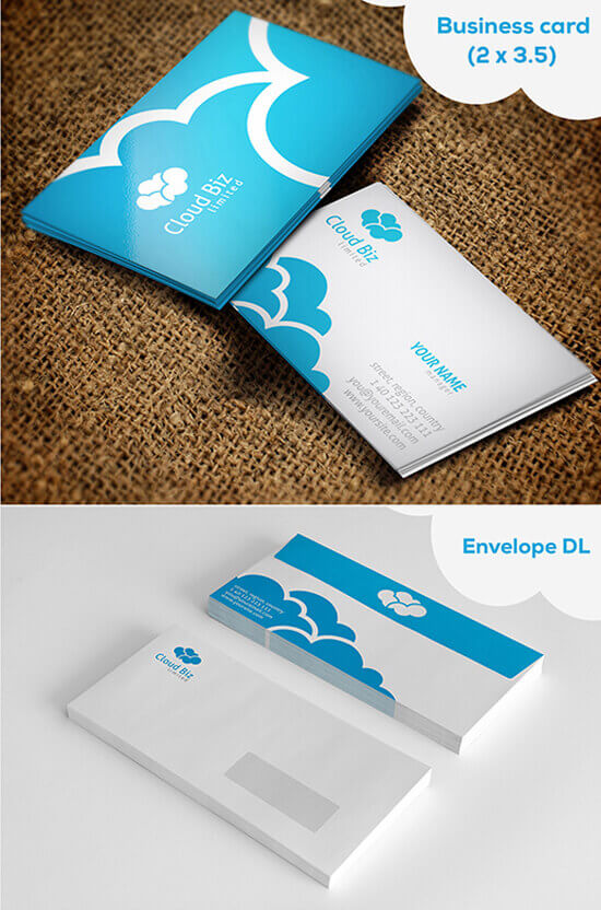 Cloud Logo and Stationery by nasirktk
