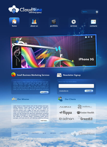Cloud9ine - Web Template by askdzigner