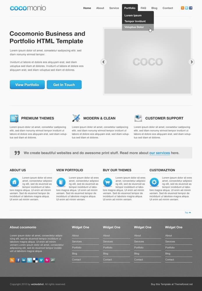 Cocomonio WordPress Theme by Wickedshot101