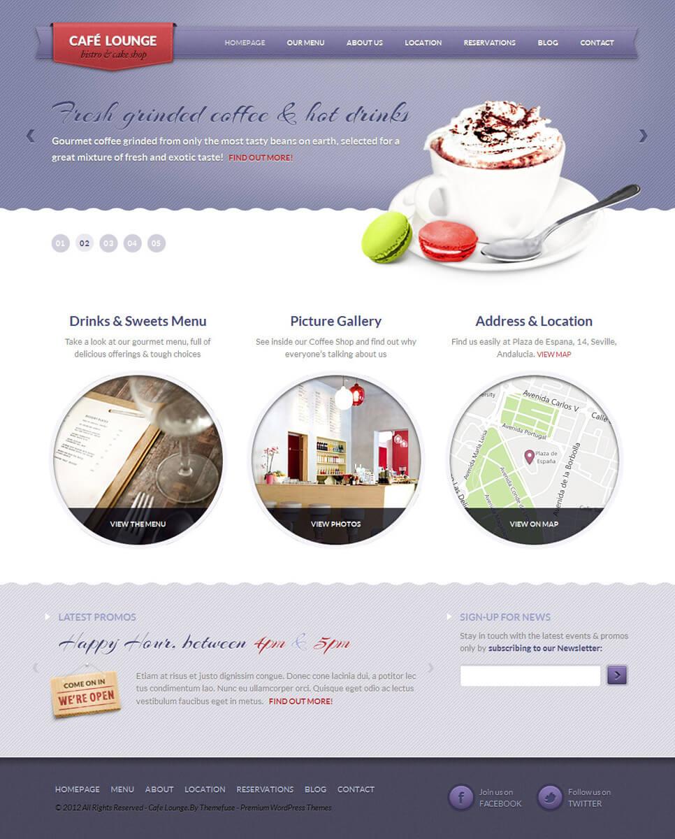 Coffee Lounge - Bar WordPress Theme by ThemeFuse