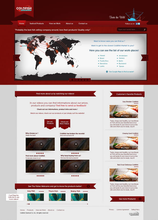 ColdFish Homepage by Moldzer